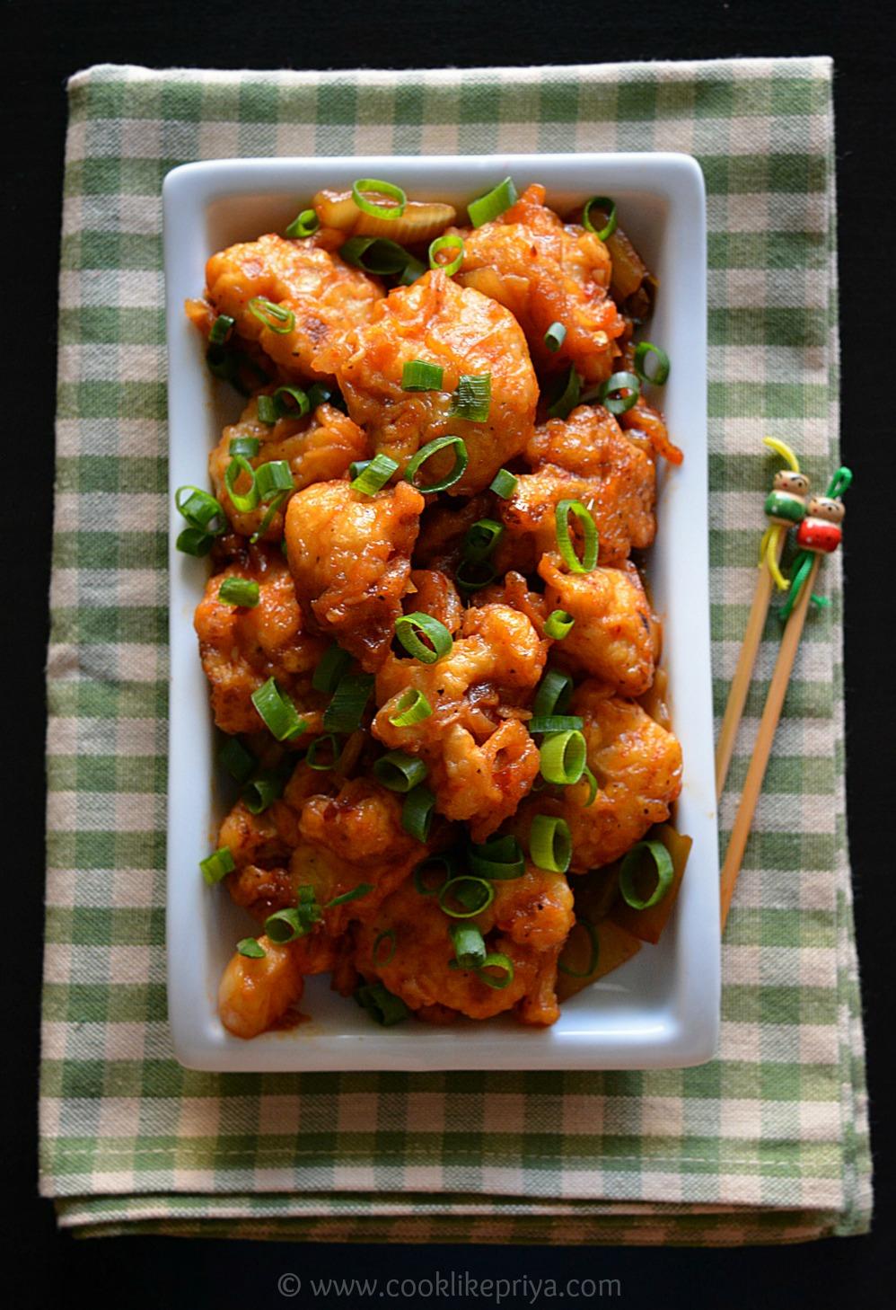 Restaurant Style Gobi/ Cauliflower Manchurian