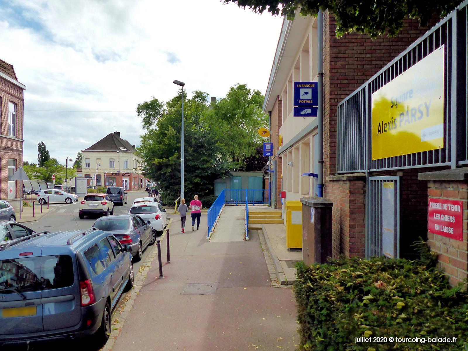 Poste Croix-Rouge et Square Parsy, Tourcoing 2020