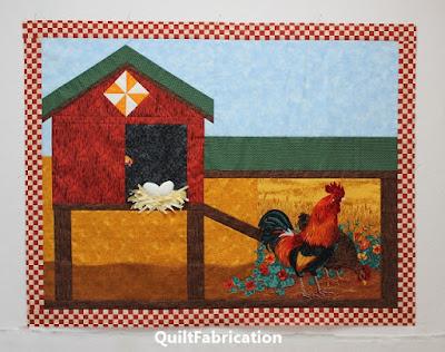 chicken round robin quilt by QuiltFabrication