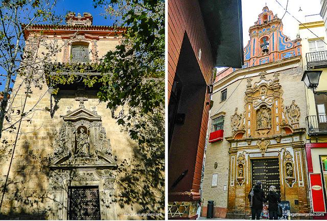 Sevilha, Andaluzia: igrejas do Amparo e de San José