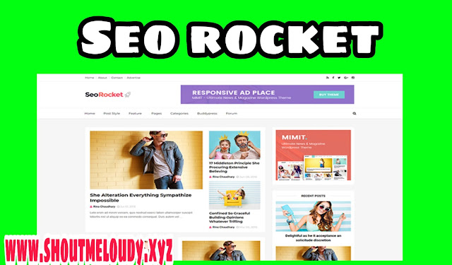 seo rocket blogger template features