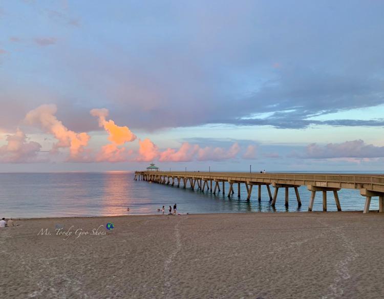 Deerfield Beach Pier at sunset - June 2019 Photo Diary | Ms. Toody Goo Shoes