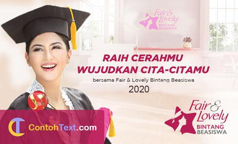 Beasiswa Fair and Lovely 2020: Beasiswa S1 bagi Perempuan Indonesia