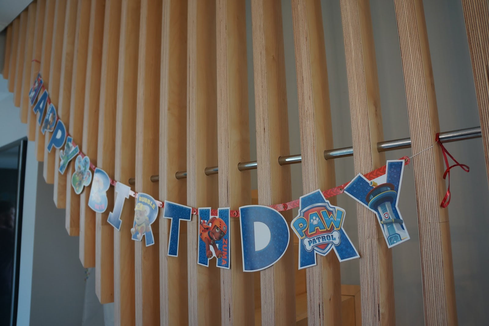 paw patrol happy birthday bunting