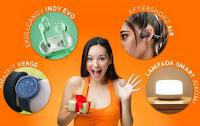 Logo Gioca per vincere gratis Smartwatch, Lampada Led o Auricolari
