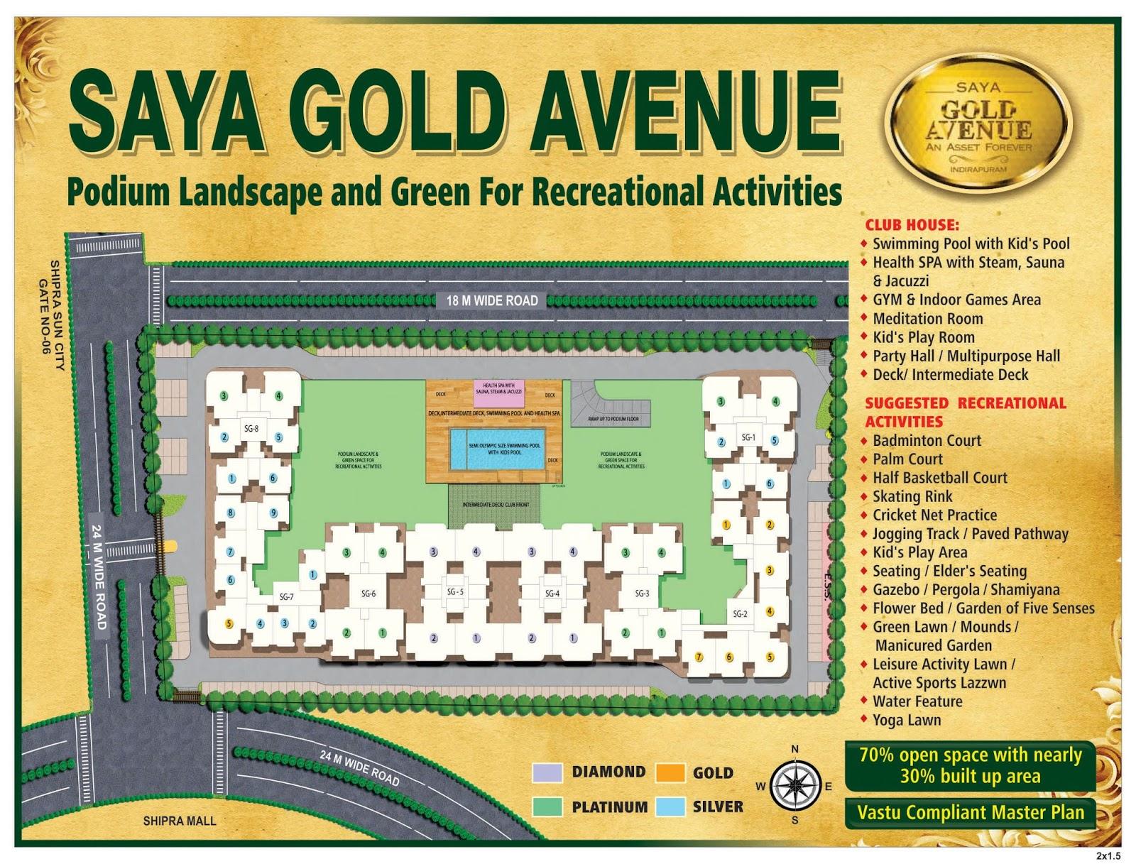 saya-gold-avenue-layout-plan