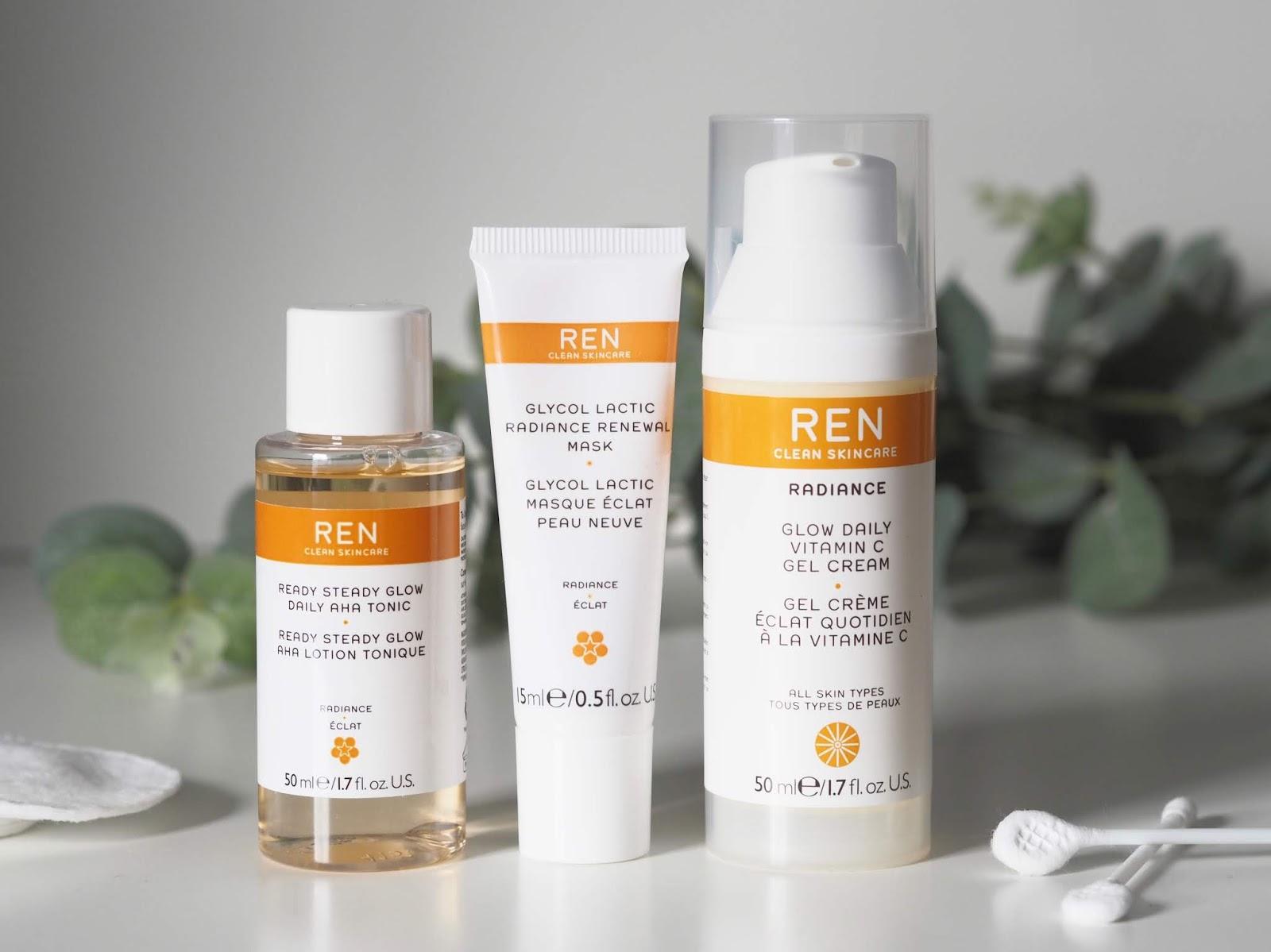 REN radiance skincare trio