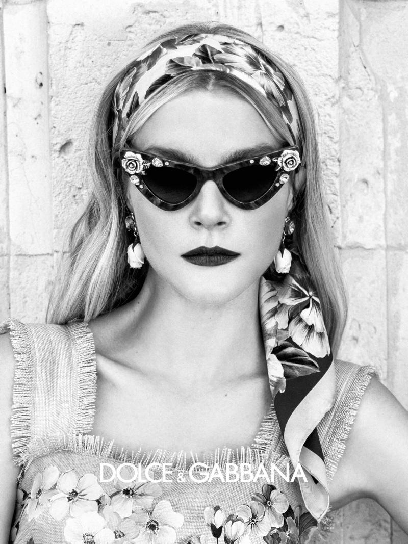 Jessica Stam appears in Dolce & Gabbana Eyewear spring-summer 2020 campaign