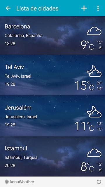 temperaturas em Israel em dezembro
