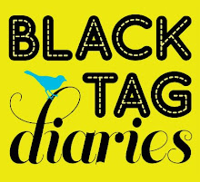 Black Tag Diaries Button