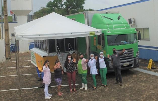 Carreta da Mulher de Goiás está em Luziânia pra fazer 500 mamografias