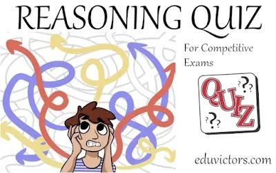 Reasoning Quiz - 1 (#reasoning)(#generalintelligence)(#eduvictors)(#compete4exams)