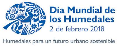 Logo, Día Mundial de los Humedales 2018, Día Ramsar 2018, actividad gratuita, Conoceris, Excursiones Aitor, rutas guiadas, observación de la naturaleza, fauna, Manzanares, Madrid, Renaturalización.