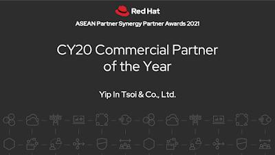 """""""ยิบอินซอย"""" ปลื้มคว้า 2 รางวัลใหญ่จาก Red Hat พันธมิตรทางธุรกิจและพันธมิตรการวางกลยุทธ์ผลิตภัณฑ์"""