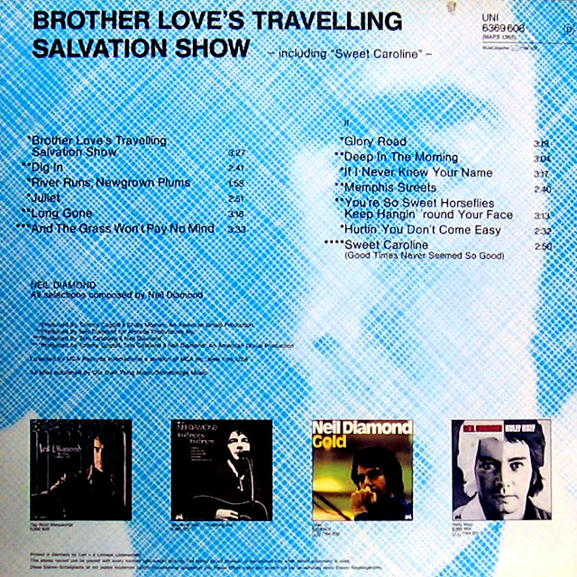 Cd NEIL DIAMOND's Brother Love Back