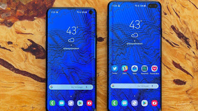 Samung galaxy s10 and s10plus render