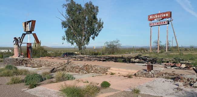 Abandoned Pichaco Peak Trading Post Ruins in Arizona