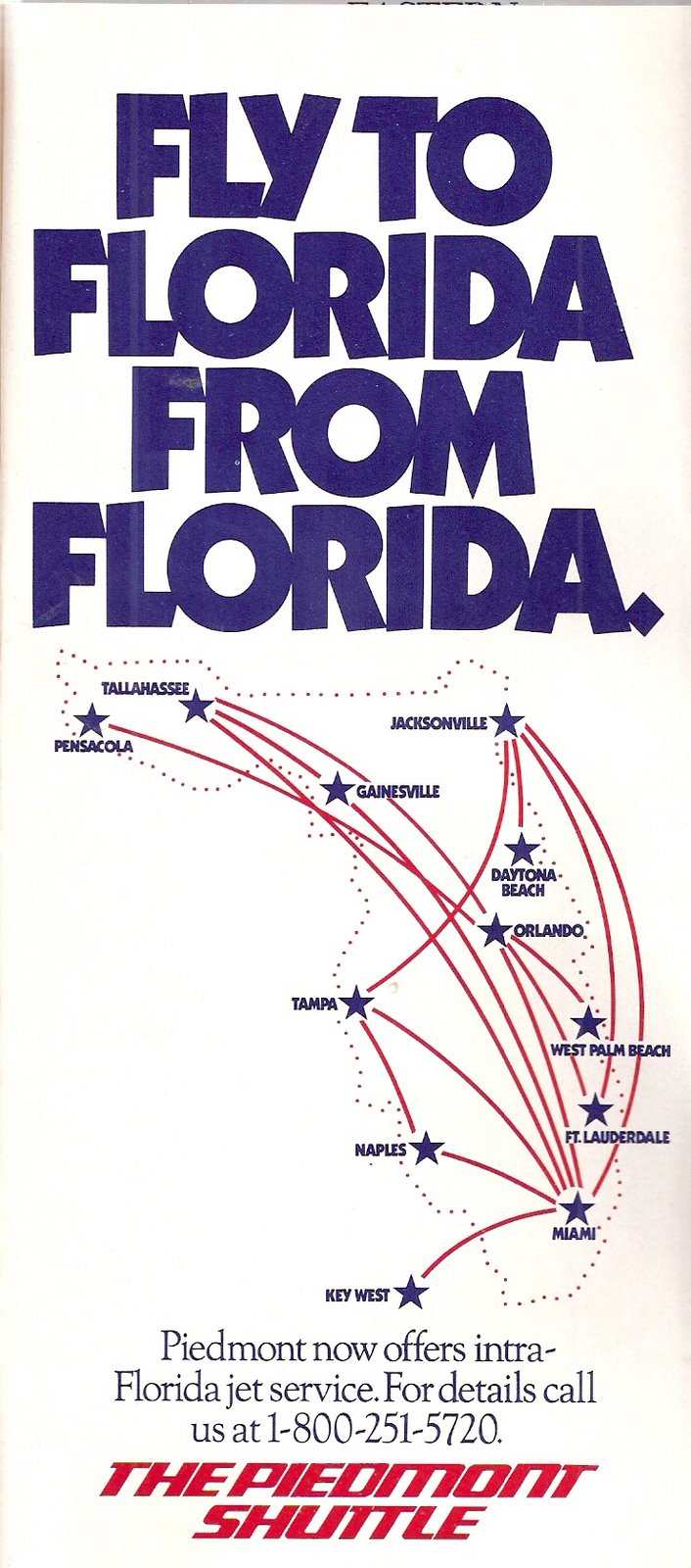 Airline Timetables: Piedmont Airlines - January, 1986