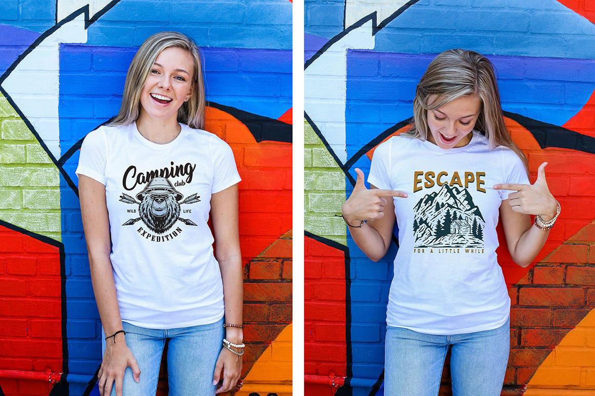 Women Urban T Shirt Mockups.
