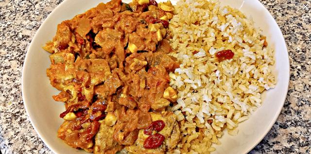 Chicken tikka masala with rice & goji berries