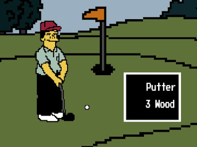 Lee Carvallo's Putting Challenge from The Simpsons