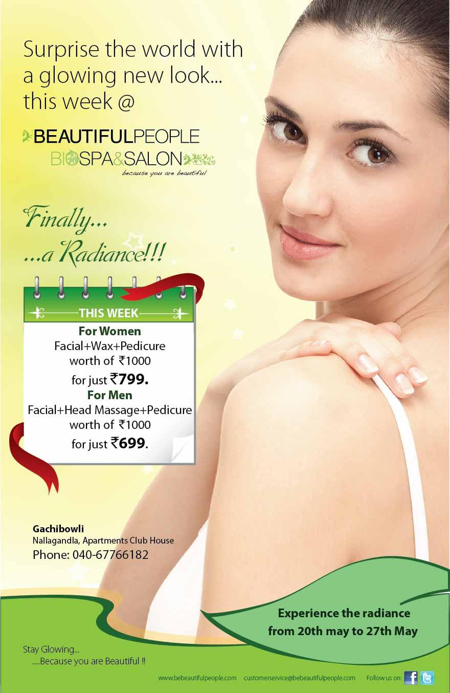 inkingdown: spa & salon: offer flyer