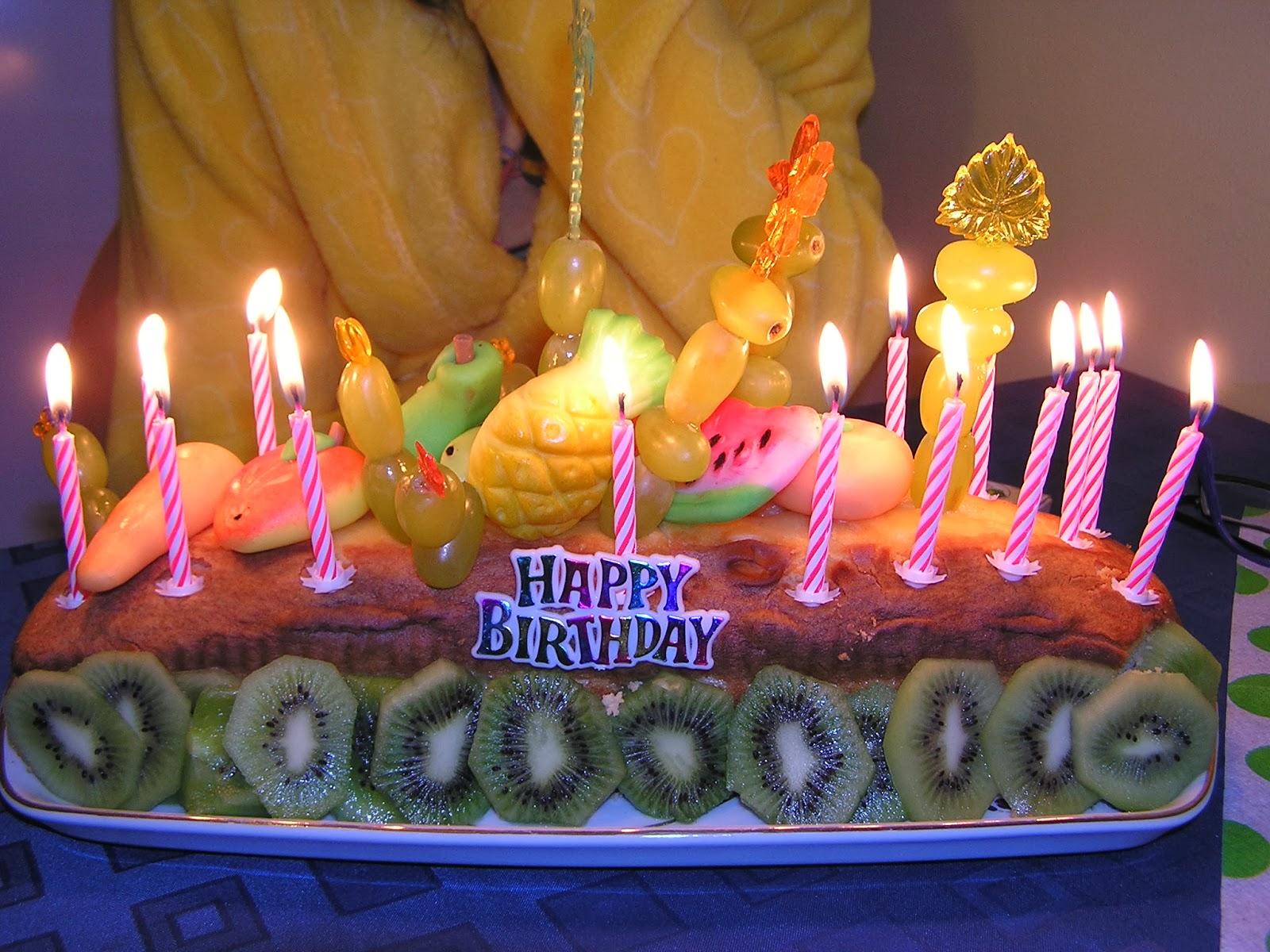 Improvizovaný dort ke čtrnáctým narozeninám