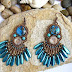 Beads turquoise earrings