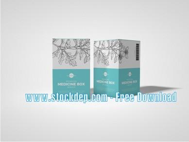 Free Packaging Medicine Box Mockup download