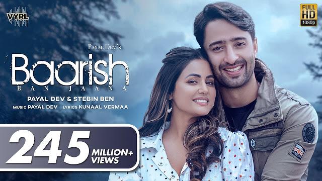 Baarish  ban Jaana Lyrics - Shaheer Sheikh, Hina Khan