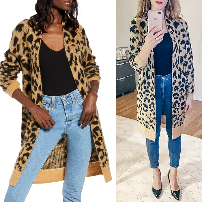 nordstrom anniversary sale 2019, leopard cardigan, nsale
