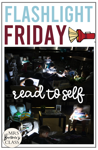 Flashlight Friday Idea- Students do silent reading or read to self in the dark using flashlights every Friday