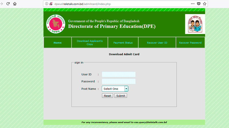 Primary Result 2019 PDF dpe gov bd | District Wise Result