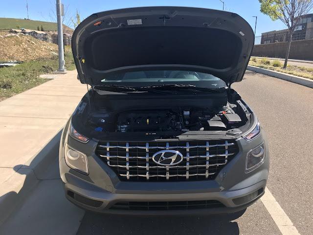 Hood up on 2020 Hyundai Venue SEL