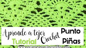 Cómo Tejer Punto Piñas a Crochet / Tutorial en español