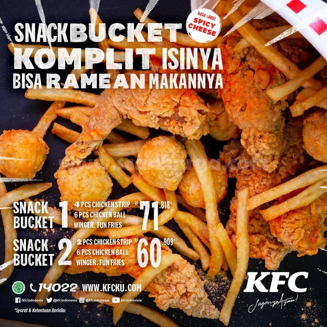 BARU! Promo KFC Snack Bucket Rasa Spicy Cheese