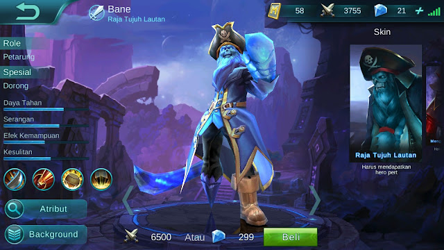 Hero Bane ( Raja Tujuh Lautan ) Tanker-Attack Build/ Set up Gear