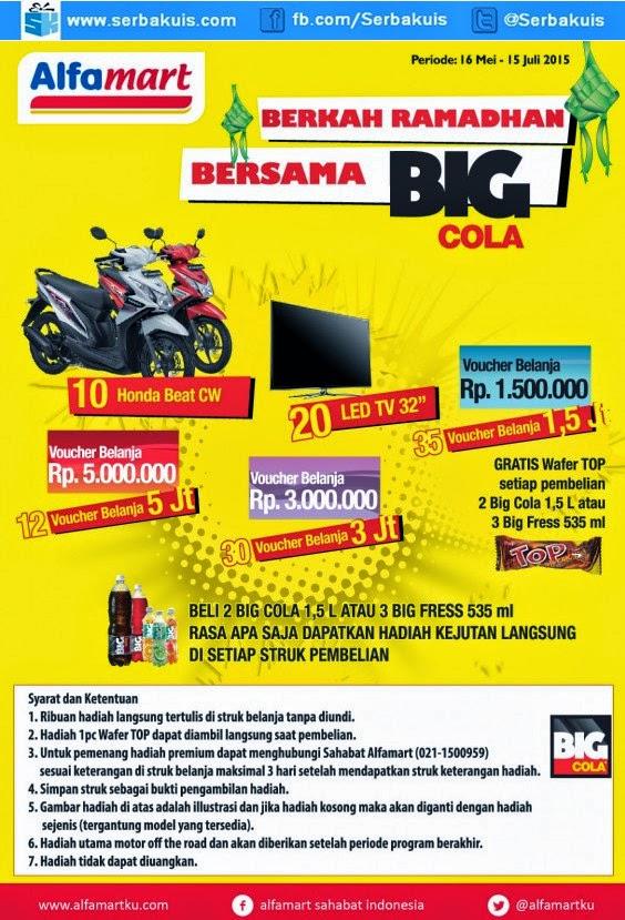 Alfamart BIG Cola Surprise Gift Berhadiah 10 Honda BeAT