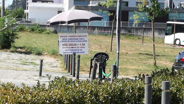 Preços do parque de estacionamento da praia do Faial