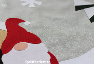 holiday themed gnome quilt by QuiltFabrication