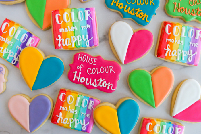 House of Colour decorated cookies