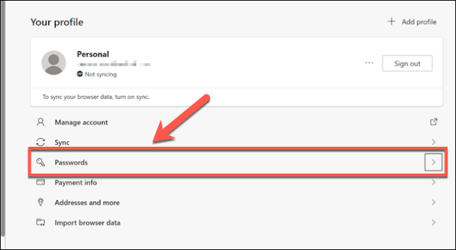كيفية إضافة أو تحرير أو حذف كلمات المرور المحفوظة في Microsoft Edge