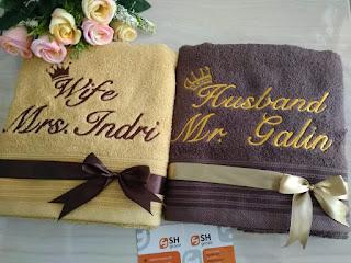 pusat souvenir handuk couple