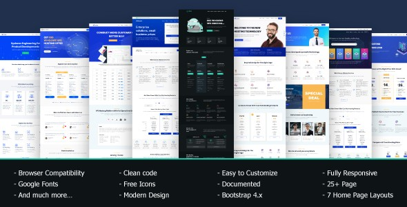 VRocket HTML5 Hosting Responsive Website Templates