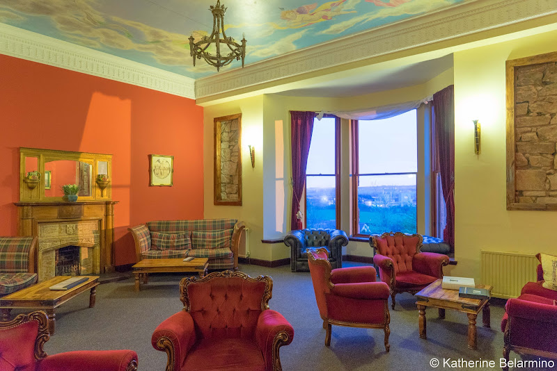 Broomhall Castle Lounge Scottish Highlands Road Trip Itinerary