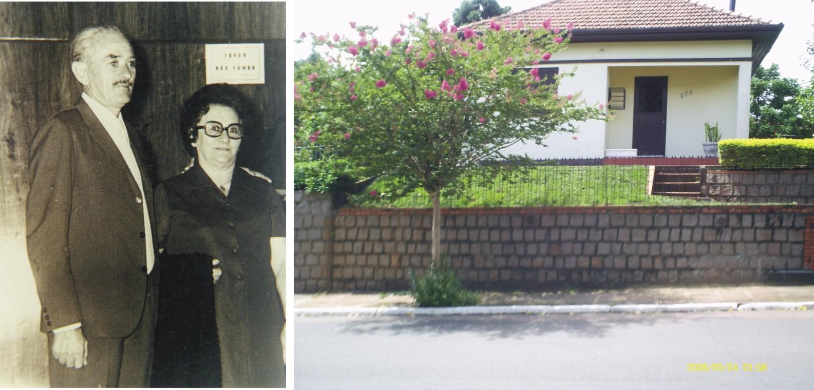 Meus queridos e saudosos pais  Luiz Pagot e Bililde Antonia Carlotto Pagot.  Ao lado, a primeira casa adquirida e construída com o suor do trabalho  deles  ... 4c6a205bf3