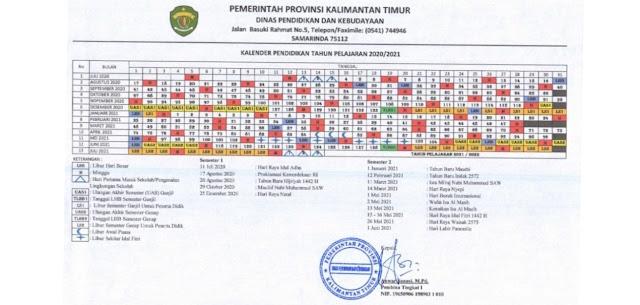 Kalender Pendidikan Provinsi Kalimantan Timur Kaltim Tahun Pelajaran 2020 2021 Pendidikan Kewarganegaraan Pendidikan Kewarganegaraan