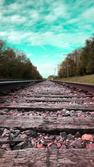 Papel de Parede Trilho de Trem na Natureza