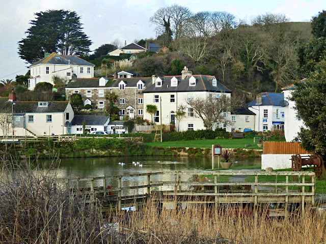 Old harbour at Pentewan, Cornwall