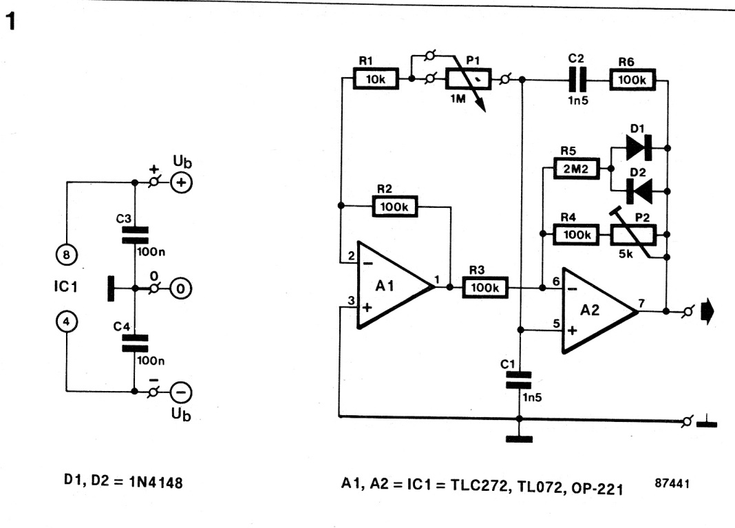 opamp rc oscillator circuit